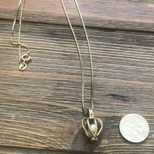 """Jewelry - Sterling silver 925 """"antiqued"""" necklace and charm"""